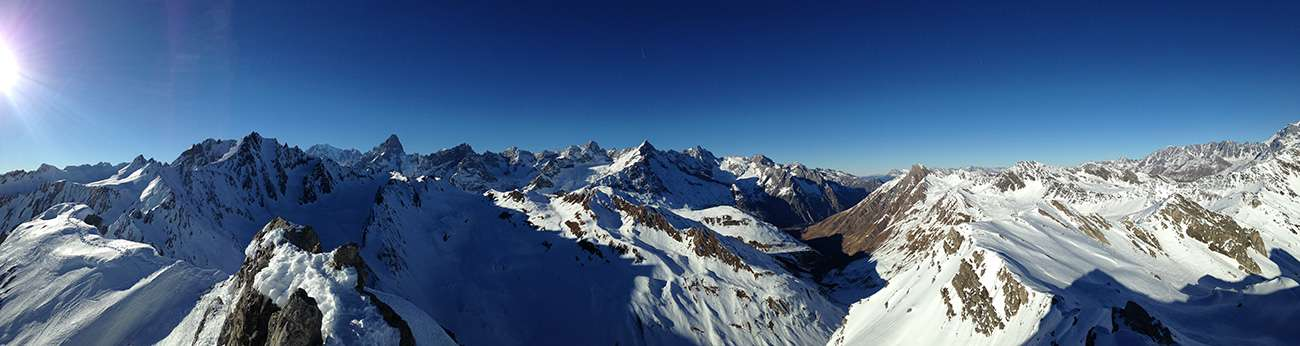 ski de randonnée, suisse, grand saint bernard, hiver