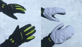 gant, camp, warm, ski de rando, montagne, équipement