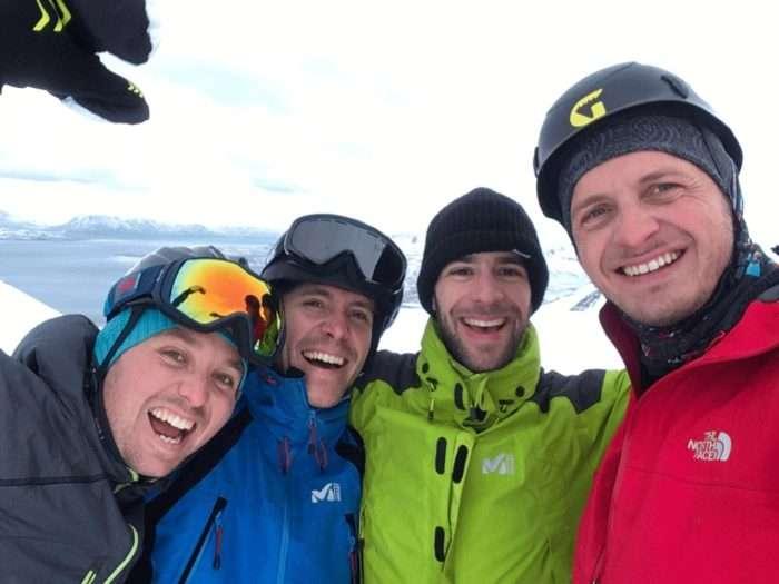 ski de randonnée, islande, hiver, péninsule de trolls, montagne