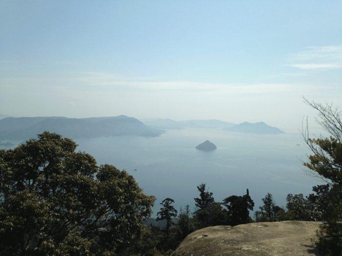 Vue depuis le Mont Misen sur la mer de Seto