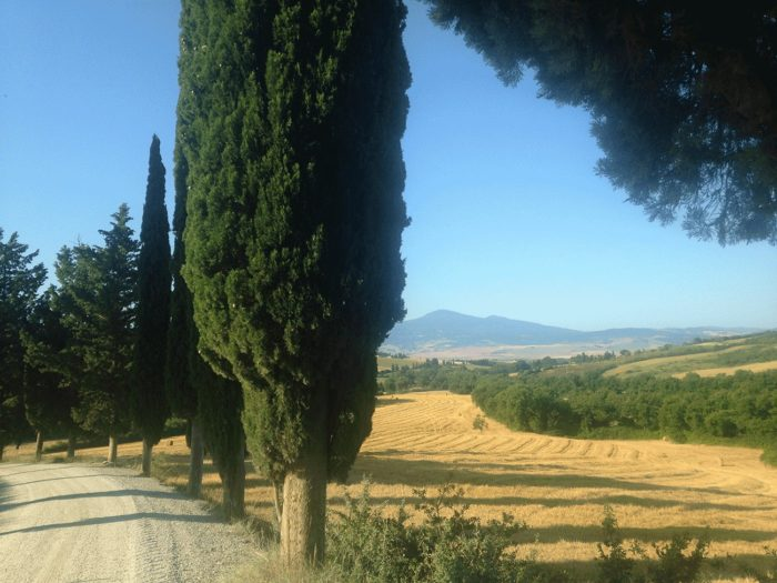 trail en toscane vers pienza