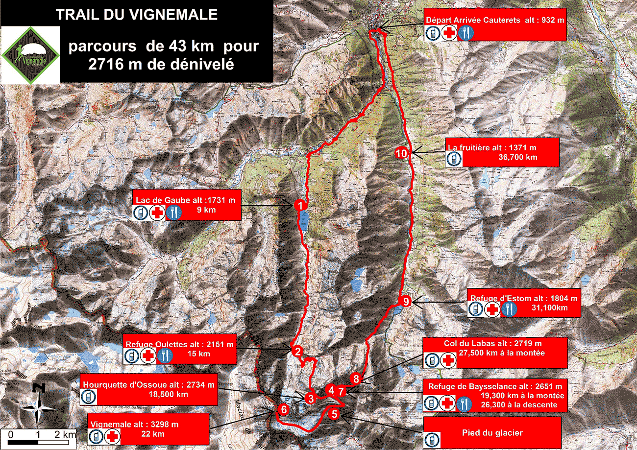 carte du trail du grand vignemale
