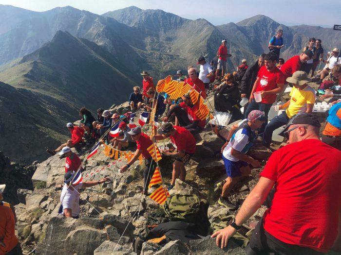 passage au sommet du canigó pour le Championnat du canigó