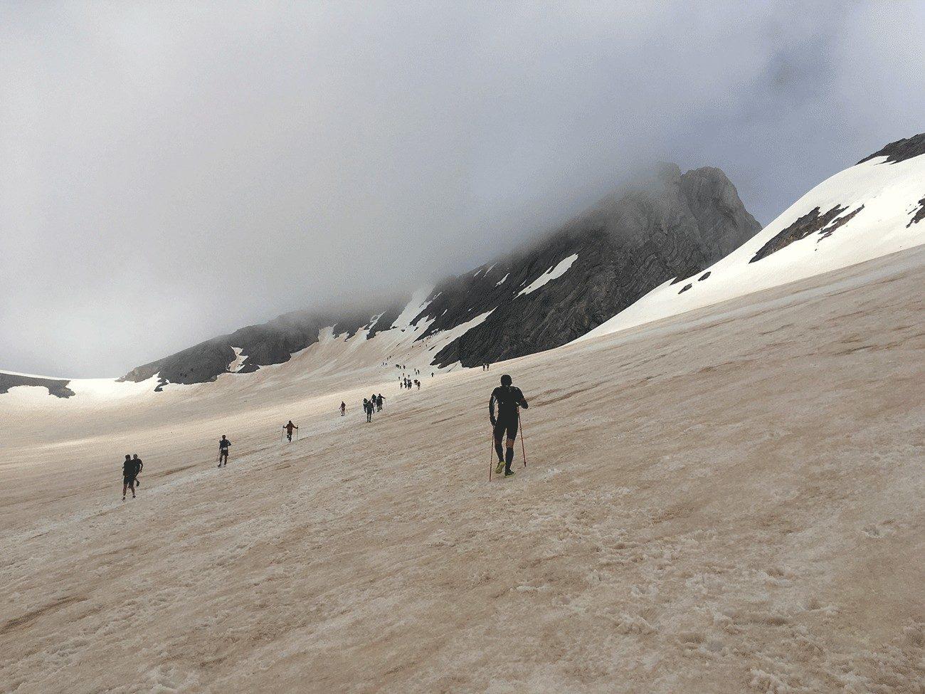 trail sur glacier d'ossoue
