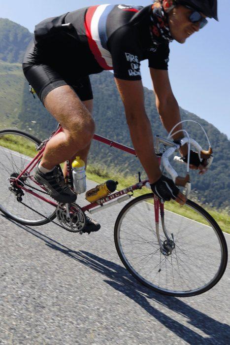 descente d'hautacam sur vélo mercier