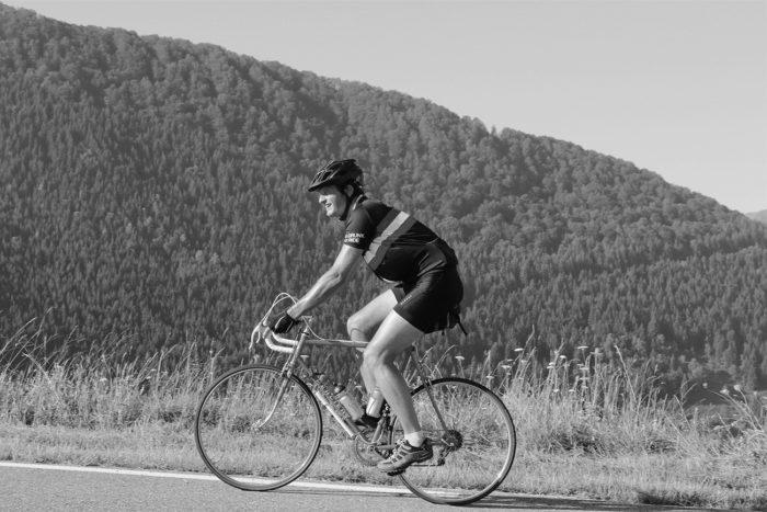 montée d'hautacam en cyclisme sur un mercier