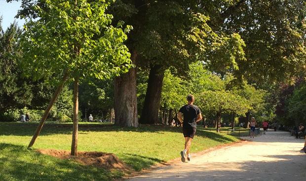 runner au parc monceau