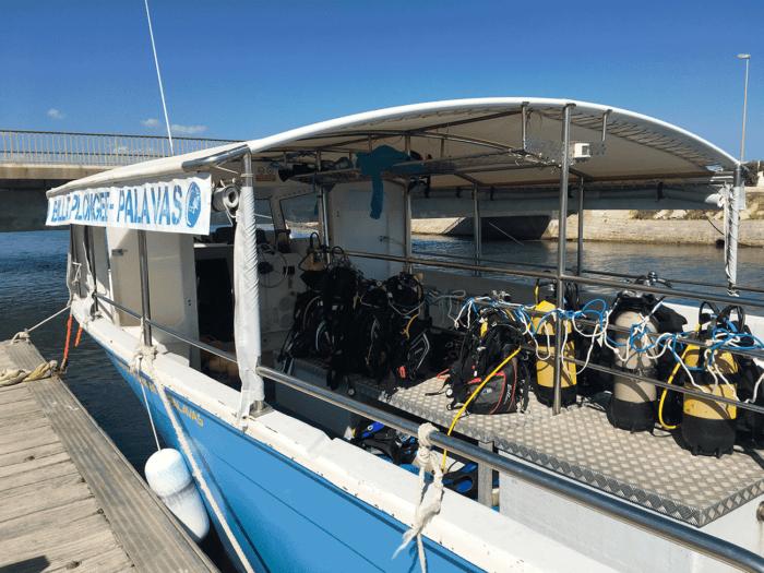 A palavas, bateau de plongée proche de Montpellier