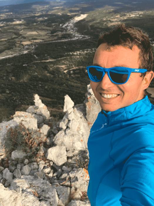 photo blogueur au Pic Saint-Loup par la crête
