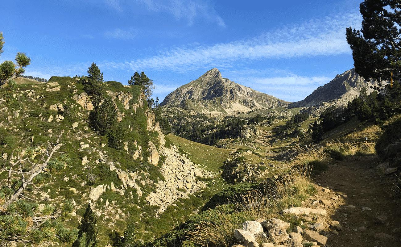 pyrénées tour trail lors du GRP, sommet