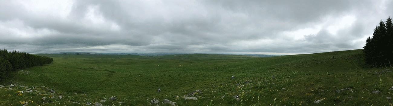 paysage en VTT sur l'aubrac