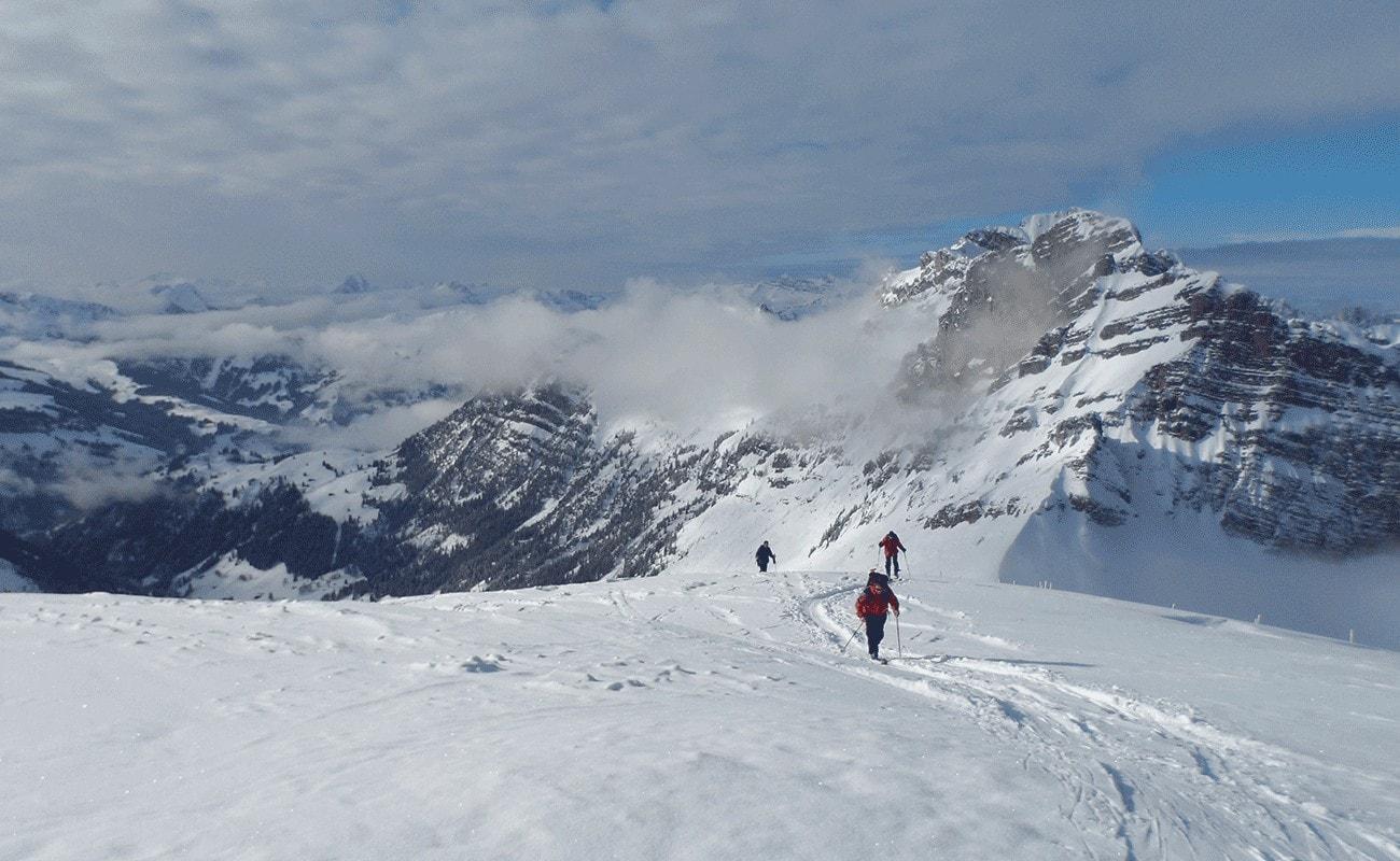 montée en ski de randonnée débutant