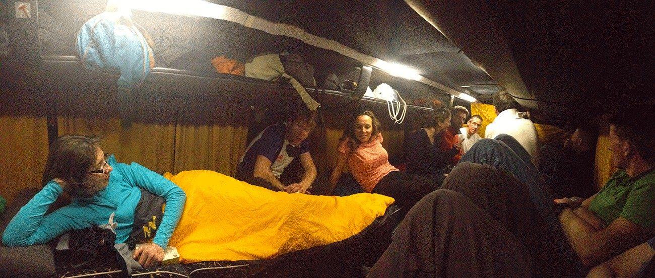 ski de randonnée depuis paris dans le bus couchette