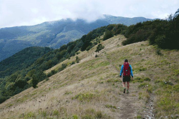 marcheur en montagne