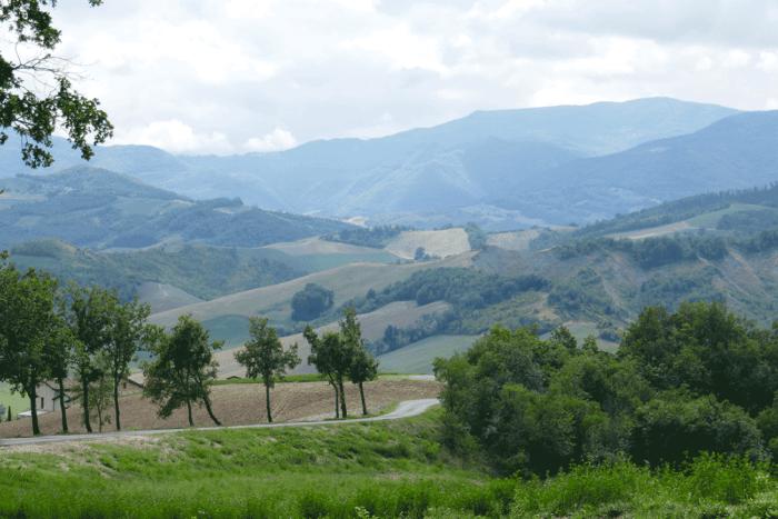 route en montagne d'Italie