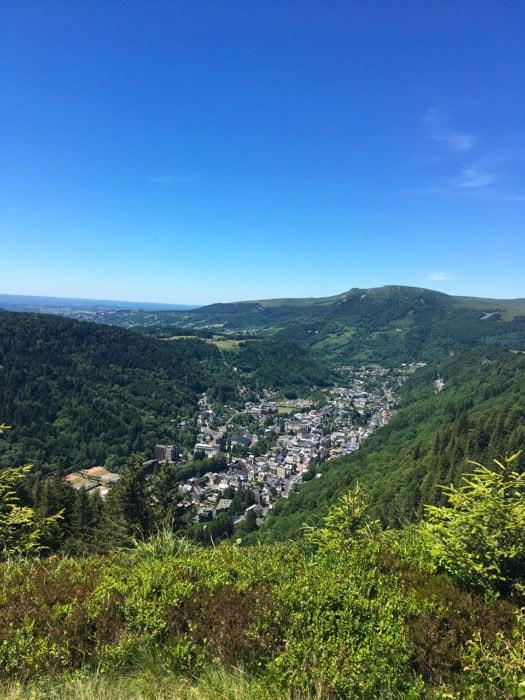 Vue vallée Mont dore auvergne
