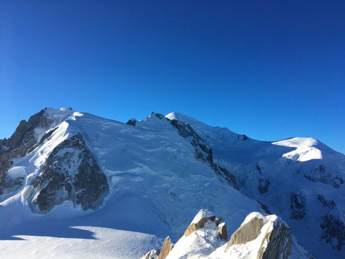 vue mont blanc aiguille du midi
