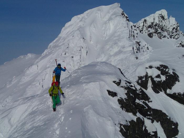 alpinistes alpes de lyngen