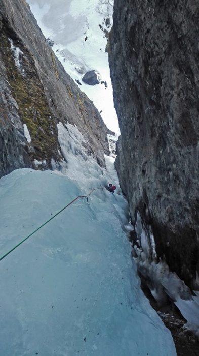 cascade de glace norvège lyngen