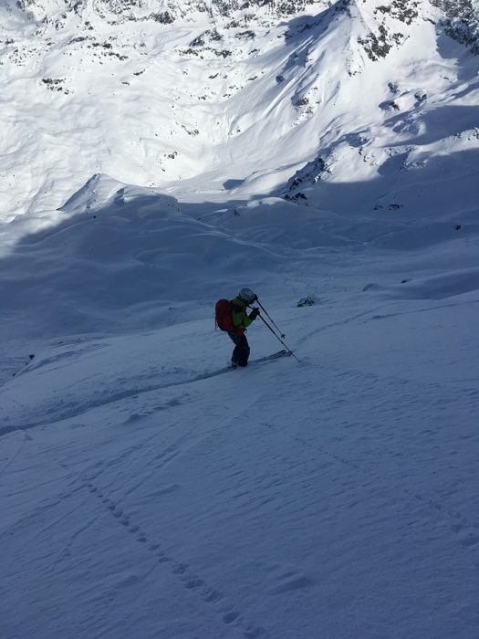 skieur face nord
