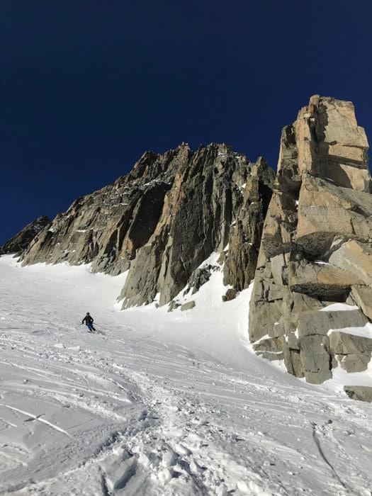 freeride chamonix vallée blanche glacier