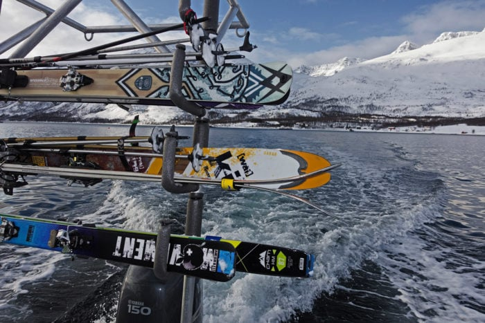 bateau et ski en Norvège