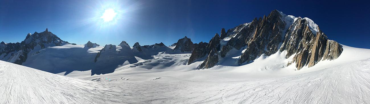 glacier vallée blanche en ski
