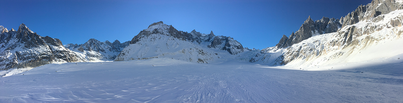 descente vallée blanche en ski