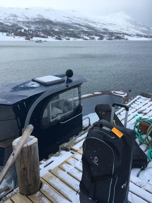 bagages ski avion en norvége