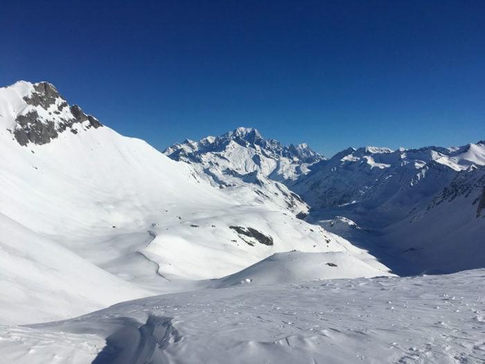 mont blanc depuis le beaufortain