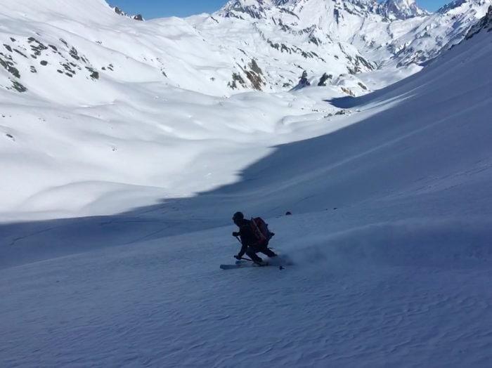 descente ski de randonnée