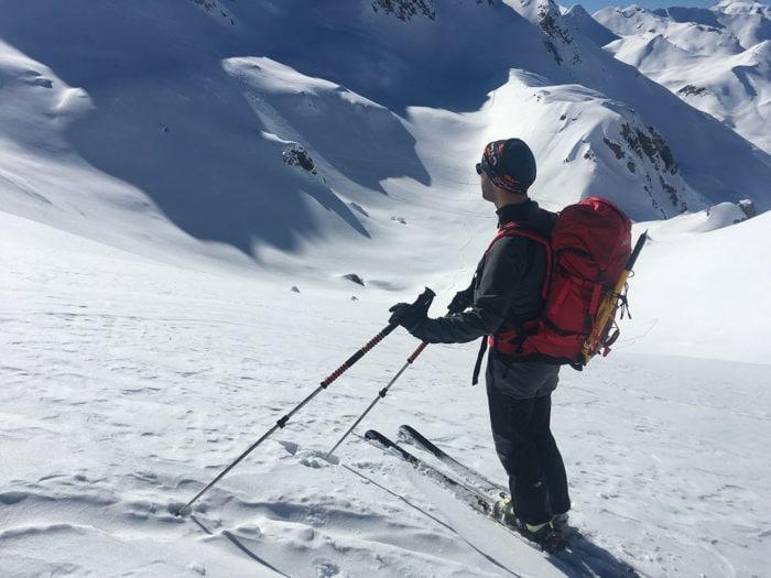 skieur de randonnée beaufortain