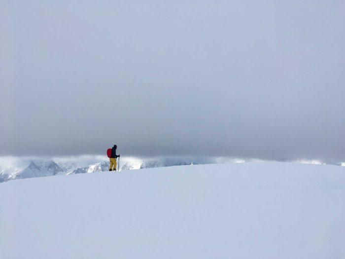 skieur à Uløya