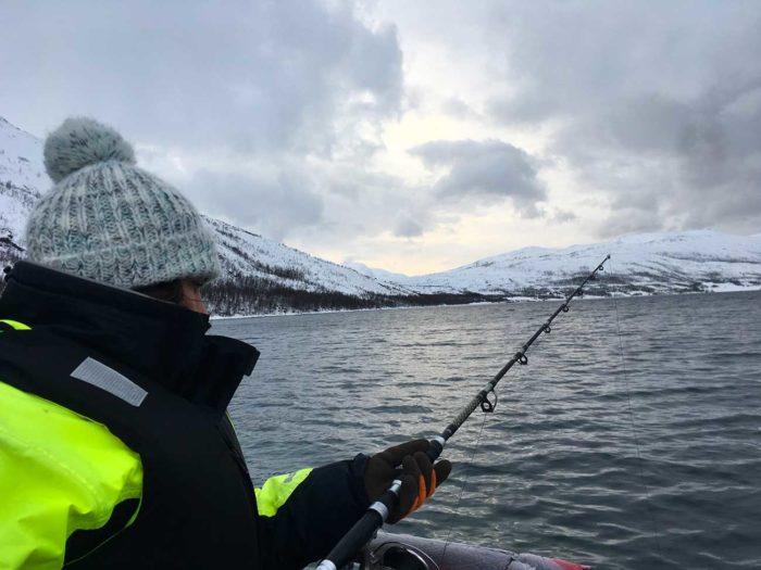 pêche dans fjord Uløya