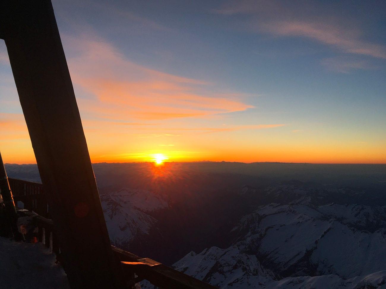 lever du soleil cabane margherita