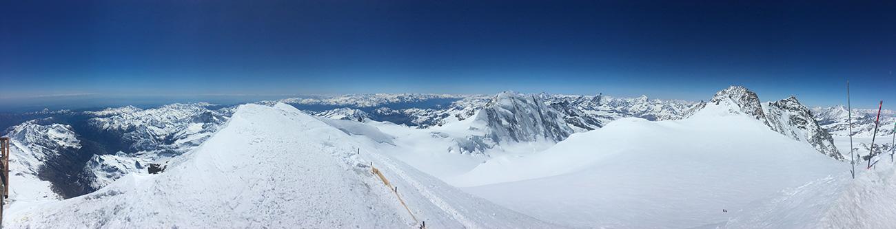glacier depuis mont rose
