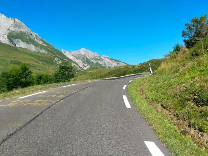 route de montée vers soulor