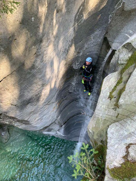 toboggan baudrier canyoning kong target