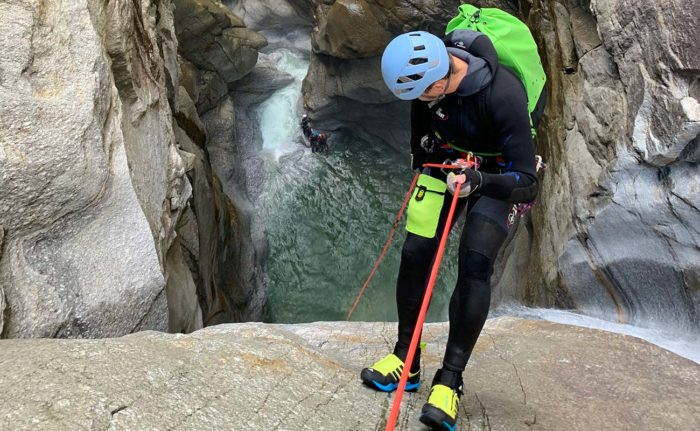 cordes canyoning tendon rappel
