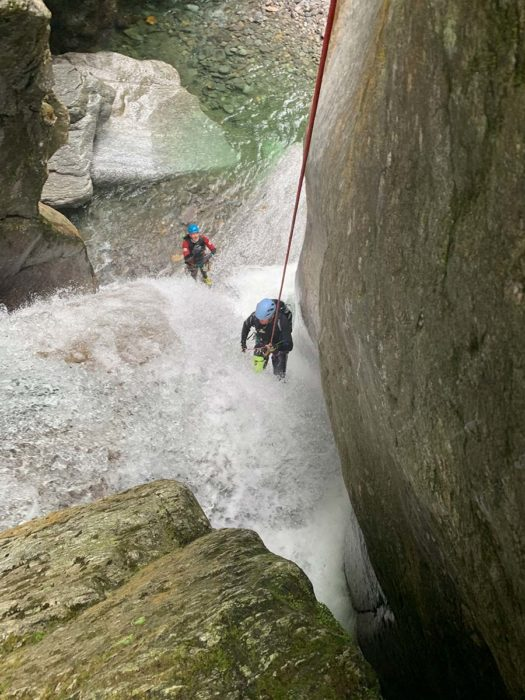 rappel canyoning tessin
