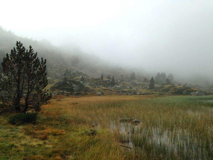 brume lac barege randonnée
