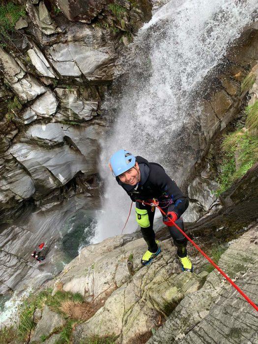 rappel baudrier canyoning kong target
