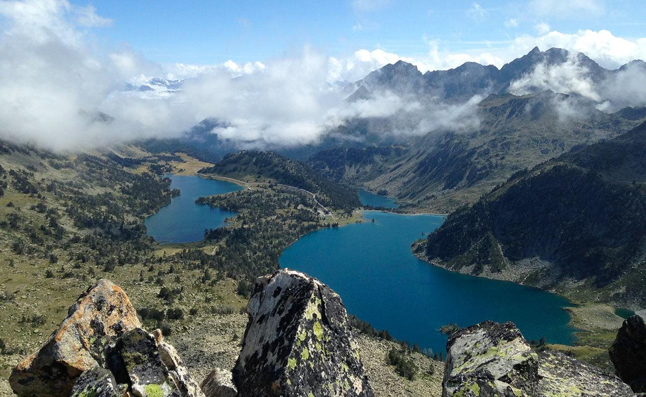 lac néouvielle vue d'en haut
