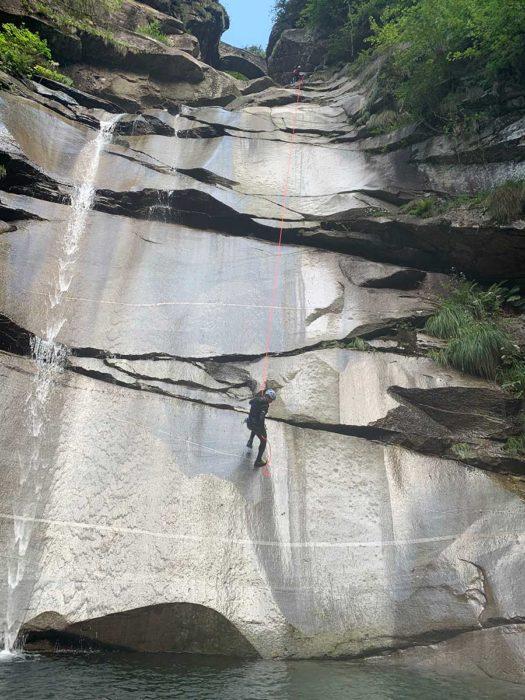 rappel tessin canyon