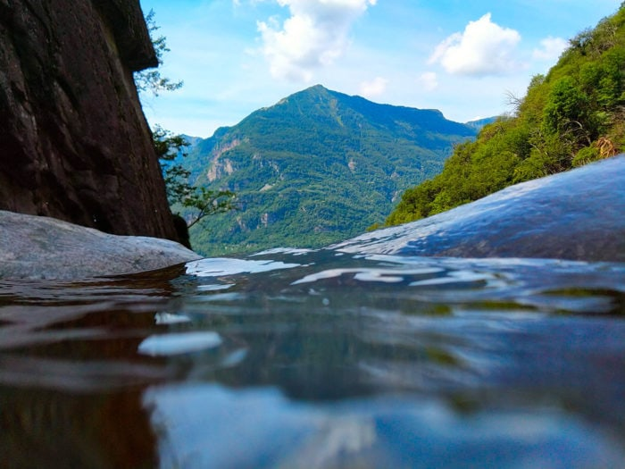 vasque d'eau tessin canyoning