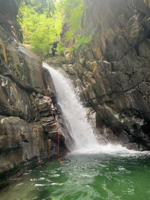 saut canyoning tessin