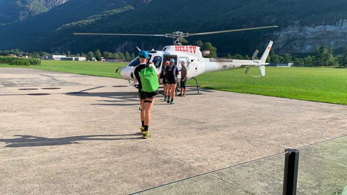 hélicoptère tessin canyoning