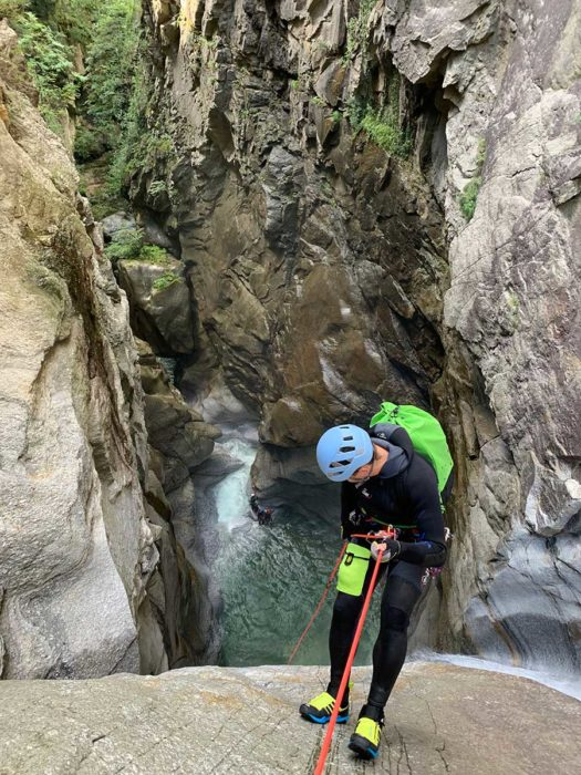 descente rappel canyoning tessin