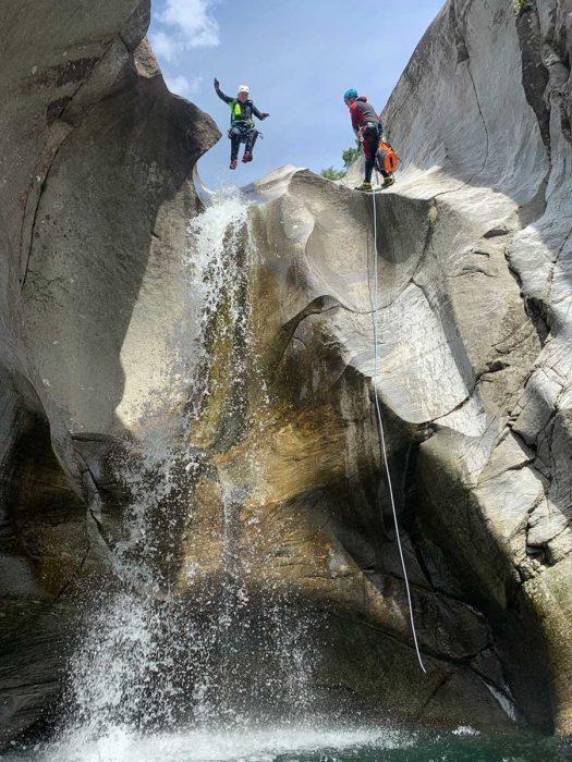 saut tessin canyoning vasque