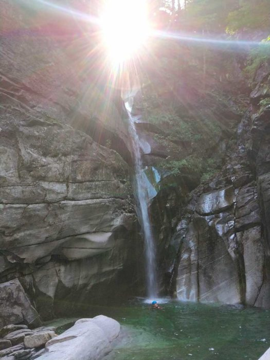 cascade soleil tessin canyoning